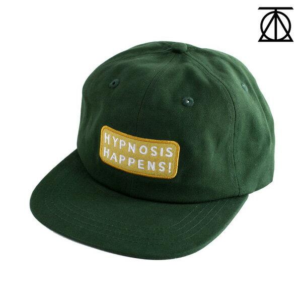 【THEORIES】HYPNOSIS HAPPENS STRAPBACK CAP カラー:forest green 【セオリーズ】【スケートボード】【帽子/キャップ】