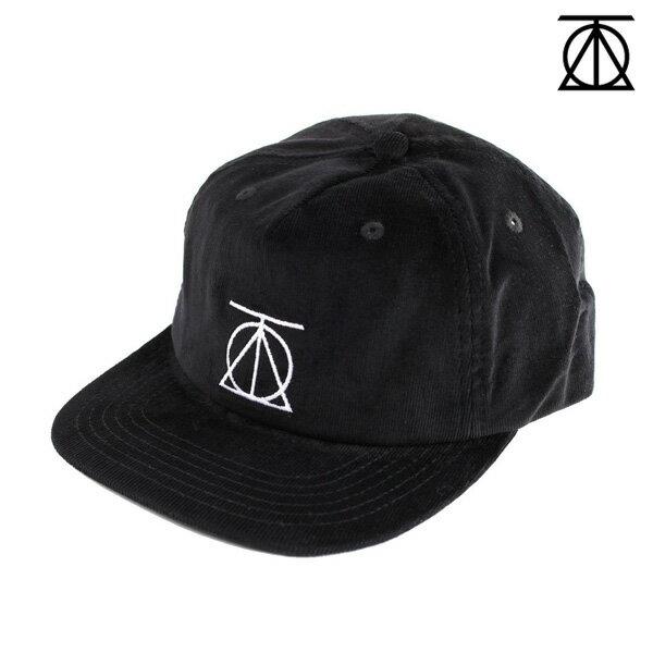 【THEORIES】CREST STRAPBACK CORDUROY CAP カラー:black 【セオリーズ】【スケートボード】【帽子/キャップ】