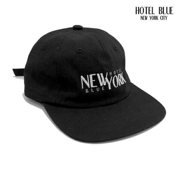 【HOTEL BLUE】STACKS HAT カラー:black 【ホテルブルー】【スケートボード】【キャップ/帽子】