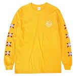 【SSP SLAPPY】LOGO long sleeve カラー:gold エスエスピー スラッピー Tシャツ 長袖 スケートボード スケボー SKATEBOARD