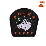 【POLER】STARRY NIGHT IRON-ON PATCH カラー:black 【ポーラー】【スケートボード】【ピンズ/小物】