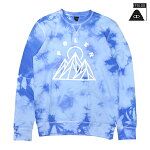 【POLER】MOUNTAINS CREW カラー:blue ポーラー キャンプ スウェット スケートボード スケボー SKATEBOARD