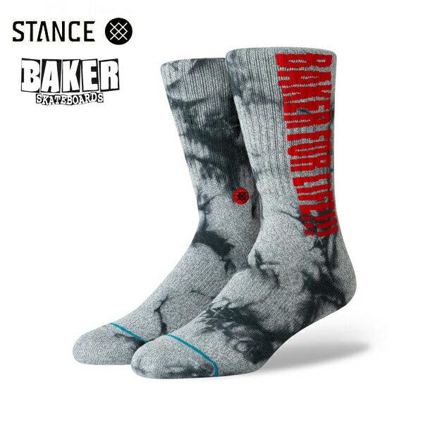 【STANCE×BAKER】BAKER FOR LIFE カラー:grey 【スタンス】【スケートボード】【靴下/ソックス】
