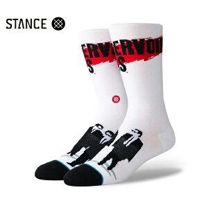 【STANCE×Quentin Tarantino】RESERVOIR DOGS カラー:white スタンス ソックス 靴下 メンズ 男性 スケートボード スケボー SKATEBOARD