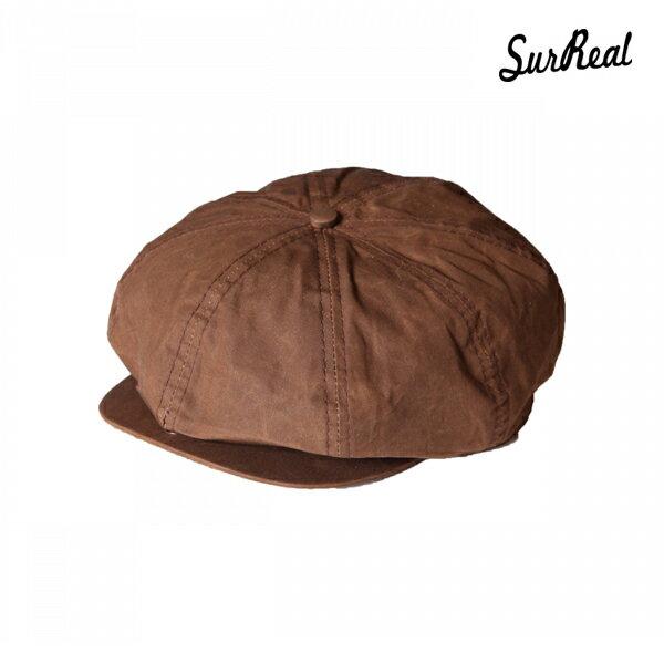 【SURREAL】WES -Oiled Newsboy Cap- カラー:brn 【シュルリアル】【スケートボード】【キャップ/帽子】