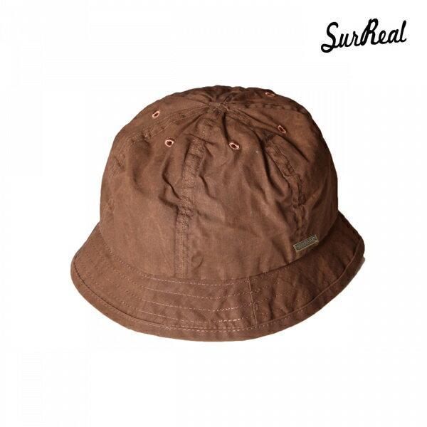 【SURREAL】ANSEL -Oiled Hat- カラー:brn 【シュルリアル】【スケートボード】【ハット/帽子】