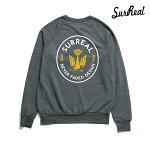 【SURREAL】AYDEN Eco Fleece Raglan Trainer カラー:charcoal シュルリアル スウェット クルーネック スケートボード スケボー SKATEBOARD