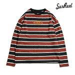 【SURREAL】GORDON Dropped Shoulder L/S Classic Border T-Shirt カラー:brown シュルリアル ロングスリーブ Tシャツ スケートボード スケボー SKATEBOARD