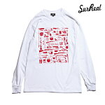 【SURREAL】BRODY Print L/S T-Shirt カラー:white シュルリアル ロングスリーブ Tシャツ スケートボード スケボー SKATEBOARD