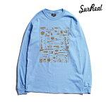 【SURREAL】BRODY Print L/S T-Shirt カラー:sax シュルリアル ロングスリーブ Tシャツ スケートボード スケボー SKATEBOARD