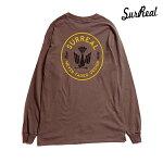 【SURREAL】JAXON Print L/S T-Shirt カラー:brown シュルリアル ロングスリーブ Tシャツ スケートボード スケボー SKATEBOARD
