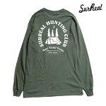 【SURREAL】SAMUEL Print L/S T-Shirt カラー:sage シュルリアル ロングスリーブ Tシャツ スケートボード スケボー SKATEBOARD