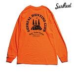 【SURREAL】SAMUEL Print L/S T-Shirt カラー:orange シュルリアル ロングスリーブ Tシャツ スケートボード スケボー SKATEBOARD