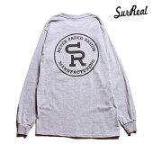 【SURREAL】NOEL Print L/S T-Shirt カラー:gray シュルリアル Tシャツ 長袖 スケートボード スケボー SKATEBOARD
