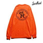 【SURREAL】NOEL Print L/S T-Shirt カラー:orange シュルリアル Tシャツ 長袖 スケートボード スケボー SKATEBOARD