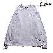 【SURREAL】REX Print L/S T-Shirt カラー:gray シュルリアル Tシャツ 長袖 スケートボード スケボー SKATEBOARD