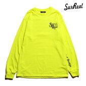 【SURREAL】SILAS Print L/S T-Shirt カラー:neon yellow シュルリアル Tシャツ 長袖 スケートボード スケボー SKATEBOARD