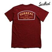 【SURREAL】JESSE Print T-Shirt カラー:burgundy シュルリアル Tシャツ 半袖 スケートボード スケボー SKATEBOARD