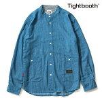 【TBPR/TIGHTBOOTH】 DENIM BAND COLLAR SHIRT カラー:wash 【タイトブースプロダクション】【スケートボード】【シャツ/トップス】