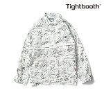 【TBPR/TIGHTBOOTH】ANALYZE SHIRT カラー:white 【タイトブースプロダクション】【スケートボード】【シャツ/トップス】