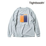 【TBPR/TIGHTBOOTH】GRID LONG SLEEVE カラー:grey 【タイトブースプロダクション】【スケートボード】【ティーシャツ/ロングスリーブ】