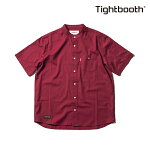 【TBPR/TIGHTBOOTH PRODUCTION】BAND COLLAR SHIRT カラー:red 【タイトブースプロダクション】【スケートボード】【シャツ/半袖】