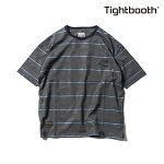 【TBPR/TIGHTBOOTH PRODUCTION】BORDER T-shirt カラー:charcoal 【タイトブースプロダクション】【スケートボード】【Tシャツ/半袖】