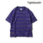【TBPR/TIGHTBOOTH PRODUCTION】BORDER T-shirt カラー:purple 【タイトブースプロダクション】【スケートボード】【Tシャツ/半袖】