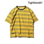 【TBPR/TIGHTBOOTH PRODUCTION】BORDER T-shirt カラー:mustard 【タイトブースプロダクション】【スケートボード】【Tシャツ/半袖】