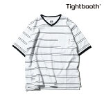 【TBPR/TIGHTBOOTH PRODUCTION】LINERS V-neck カラー:white 【タイトブースプロダクション】【スケートボード】【Tシャツ/半袖】