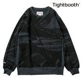 【TBPR/TIGHTBOOTH PRODUCTION】NOISE CREW NECK カラー:black 【タイトブースプロダクション】【スケートボード】【スウェット/クルーネック】