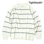 【TBPR/TIGHTBOOTH PRODUCTION】COTTON LINERS カラー:white 【タイトブースプロダクション】【スケートボード】【スウェット/クルーネック】
