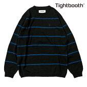 【TBPR/TIGHTBOOTH PRODUCTION】COTTON LINERS カラー:black 【タイトブースプロダクション】【スケートボード】【スウェット/クルーネック】