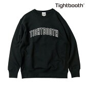 【TBPR/TIGHTBOOTH PRODUCTION】 COLLEGE CREW NECK カラー:black 【タイトブースプロダクション】【スケートボード】【スウェット/クルーネック】