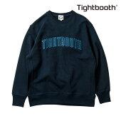 【TBPR/TIGHTBOOTH PRODUCTION】 COLLEGE CREW NECK カラー:navy 【タイトブースプロダクション】【スケートボード】【スウェット/クルーネック】