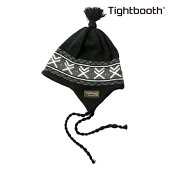 【TBPR/TIGHTBOOTH PRODUCTION】 EAR FLAP KNIT CAP カラー:black 【タイトブースプロダクション】【スケートボード】【ビーニー/ニット帽】