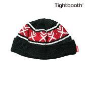 【TBPR/TIGHTBOOTH PRODUCTION】 VX KNIT CAP カラー:black 【タイトブースプロダクション】【スケートボード】【ビーニー/ニット帽】