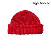 【TBPR/TIGHTBOOTH PRODUCTION】 SHORT KNIT CAP カラー:red 【タイトブースプロダクション】【スケートボード】【ビーニー/ニット帽】