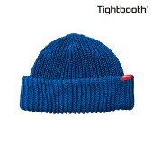 【TBPR/TIGHTBOOTH PRODUCTION】 SHORT KNIT CAP カラー:blue 【タイトブースプロダクション】【スケートボード】【ビーニー/ニット帽】