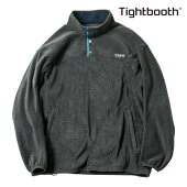 【TBPR/TIGHTBOOTH PRODUCTION】FLEECE PULLOVER カラー:charcoal 【タイトブースプロダクション】【スケートボード】【フリース】
