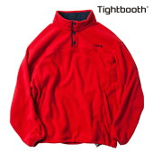 【TBPR/TIGHTBOOTH PRODUCTION】FLEECE PULLOVER カラー:red 【タイトブースプロダクション】【スケートボード】【フリース】
