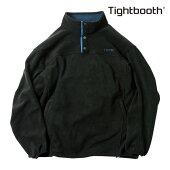 【TBPR/TIGHTBOOTH PRODUCTION】FLEECE PULLOVER カラー:black 【タイトブースプロダクション】【スケートボード】【フリース】