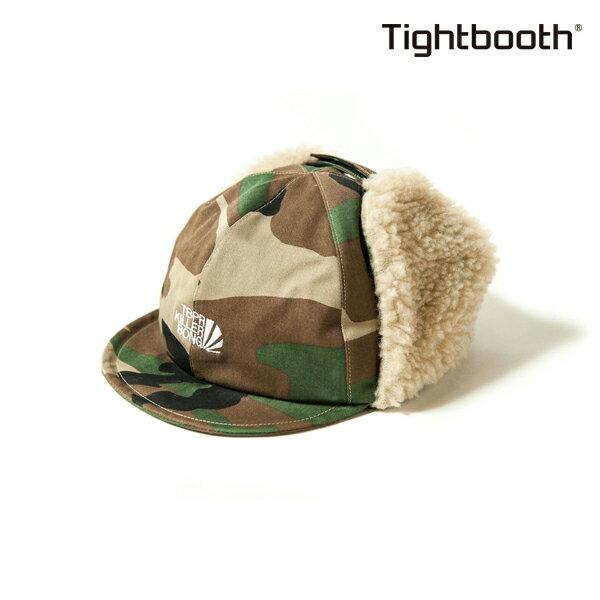 【TBPR/TIGHTBOOTH PRODUCTION】 TBKB EAR FLAP CAP カラー:camo 【タイトブースプロダクション】【スケートボード】【キャップ/帽子】