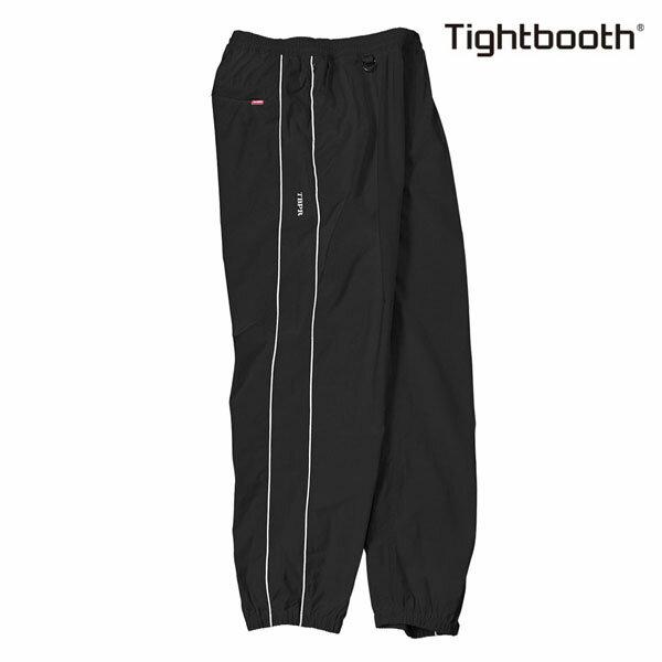 【TBPR/TIGHTBOOTH PRODUCTION】PIPING TRACK PANTS カラー:black 【タイトブースプロダクション】【スケートボード】【パンツ】