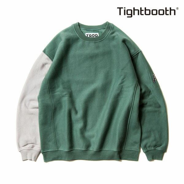 【TBPR/TIGHTBOOTH PRODUCTION】CYBORG CREW SWEAT カラー:sage 【タイトブースプロダクション】【スケートボード】【スウェット】