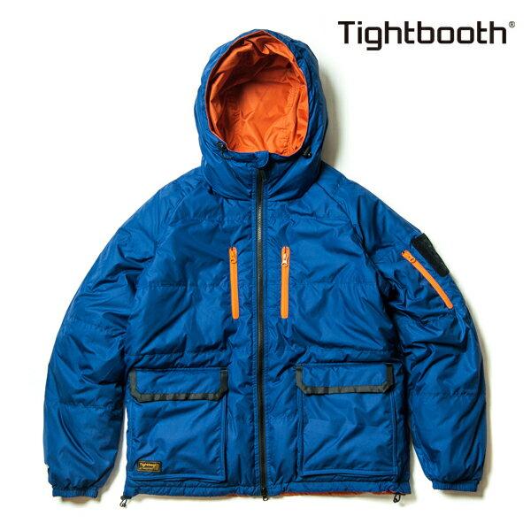 【TBPR/TIGHTBOOTH PRODUCTION】 DOWN JKT カラー:blue/orange 【タイトブースプロダクション】【スケートボード】【ジャケット】