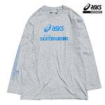 【asics skatebording】SK8 LONG SLEEVE TOP カラー:heather grey アシックス スケートボーディング Tシャツ 長袖 スケートボード スケボー SKATEBOARD