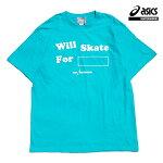 【asics skatebording】SK8 SHORT SLEEVE TOP カラー:ice mint アシックス スケートボーディング Tシャツ 半袖 スケートボード スケボー SKATEBOARD