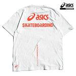 【asics skatebording】SK8 SHORT SLEEVE TOP カラー:brilliant whiteアシックス スケートボーディング Tシャツ 半袖 スケートボード スケボー SKATEBOARD