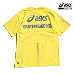 【asics skatebording】SK8 SHORT SLEEVE TOP カラー:soft yellow アシックス スケートボーディング Tシャツ 半袖 スケートボード スケボー SKATEBOARD